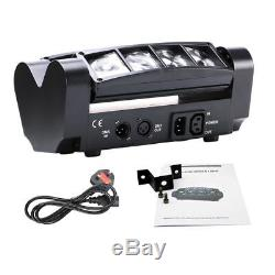 4x LED RGBW Spider Moving Head DMX Stage Beam Lighting Disco Party KTV Projector