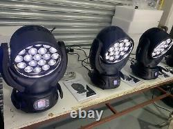 4x LED Zoom Wash Moving Head 19x15W RGBW 4in1 UK STOCK DJ Party Stage Dmx Beam