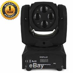 4x10w RGBW 4in1 LEDs Beam Mini Moving Head Light Stage Performance Party Event