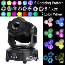 60W LED Moving Head Stage Light 8GOBOs+7Color+6Rotating Pattern Mix Effect DMX