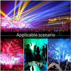 60W Prism Effects Moving Head Stage Light with Remote 9/11CHs DMX Auto Sound UK