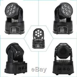 8 Pack 70W DMX-512 Moving Head 4 In 1 RGBW LED Stage Light Strobe DJ Party Light