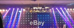8 x 12W RGBW CREE LED Moving Heads Stage Lights for Band, DJ or Event (BRISTOL)