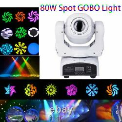 80W LED Moving Head RGBW Pattern Gobos Stage Lighting DMX Bar Disco Party Light