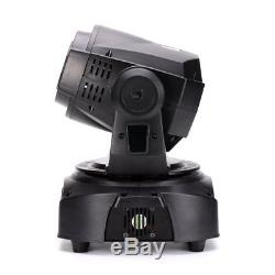 80W LED Moving Head Stage Lighting GOBO+ Color + Rotating Pattern Mix DJ Lights