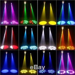 80W RGBW LED Moving Head Stage Lighting DMX512 4 Color Gobos Wedding Disco Party