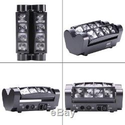 8PCS 80W RGBW LED Spider Beam Moving Head DMX LED Disco Party Stage Lighting