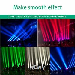 8X 60W Wash Light Beam Moving Head LED Stage Light with 13/15CH DMX Auto Sound