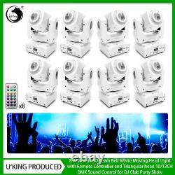 8X 80W Gobo Moving Head Pattern Stage Light LED DMX Remote Party Show Disco Club