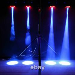 8X 80W Spot GOBO RGBW Stage Lighting LED Moving Head 8 Pattern Disco Party Light