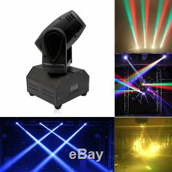 8X Mini Moving Head LED RGBW Stage Lighting Spotlight Beam DMX for Disco Party