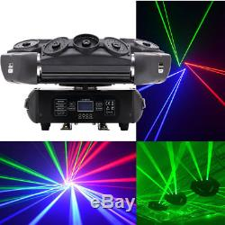 9 LED Spider Laser Beam Moving Head Stage Light RGB DJ Disco Party Show Lighting