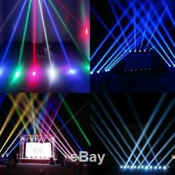 CHRISTMAS LIGHTS 6 Mini Moving Head Stage Light RGBW 4 in 1 DMX512 Beam LED