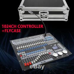 DMX 512 RGB Stage Lighting Console Moving Head Light Controller 1024 CH +Flycase