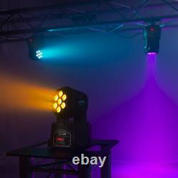 MHL73 Wash Lights Moving Head Stage Lighting Colour Mixing 7X8W LED DMX Set of 2