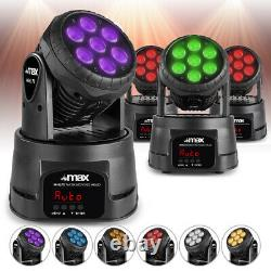 MHL73 Wash Lights Moving Head Stage Lighting Colour Mixing 7X8W LED DMX Set of 4