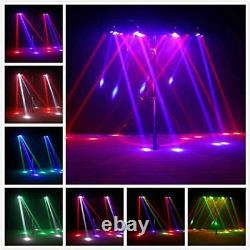 Moving Head Light Spider, UKing 8 LED RGBW Disco Lights Stage Effect Sound and