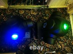 Moving heads stage lights large party dj pub dmx x2 pair professional pa system