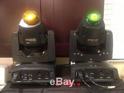 Pair Chauvet DJ Intimidator Spot 150 LED Club Stage DMX Gobo Moving Head Fixture