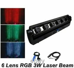 RGB Moving Head Laser Array Stage Lights 2 Pcs/Lot 3W DMX Channel Equipment Tool