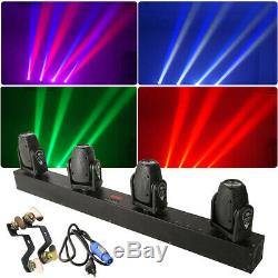 RGBW 4 Head LEDs Moving Head Stage Light 4 IN 1 Beam or 192 Channels Controlle