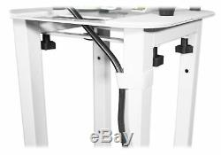 Rockville RTP32W Church Stage Design Moving Head Light Totem Stand in White