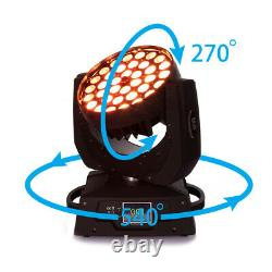 Samger 4x 360W RGBW 4in1 LED Zoom Moving Head Stage Light DMX Control DJ Party