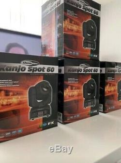 Showtec Kanjo 60w LED Moving Heads + Bag & DMX Cables. DJ, Club, Party, Stage