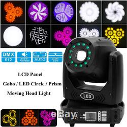 Stage Lighting Prism Beam GOBO Patterns LED Moving Head Light DMX Bar Party Club