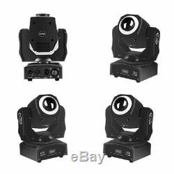 Stage Lights Led Mini Dj Disco Moving Head RGBW Spotlight with Ring8 Gobos An