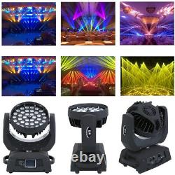 Touch Screen 36x10W RGBW Zoom Moving Head Stage Light LED Light DMX Party Show