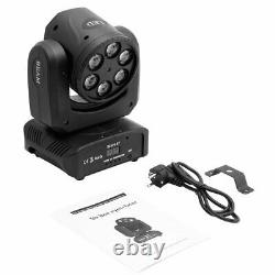U'king 80W 6 Bee Eyes + Green Laser Moving Head Stage Light with DMX Sound Control